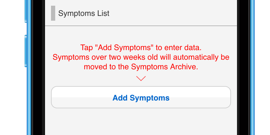 Inputting Symptoms